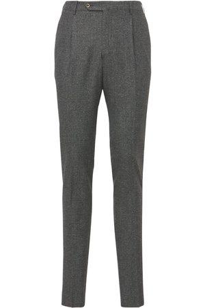 Pantaloni Torino | Hombre Pantalones Super Slim De Lana Y Seda Stretch 44