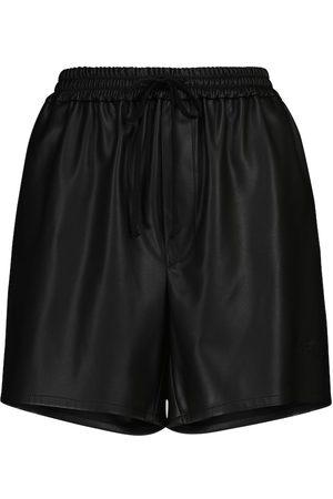 Serafini Shorts de piel sintética ajustables