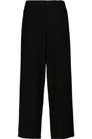 Vince Pantalones en mezcla de algodón acanalados