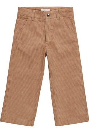 Chloé Pantalones rectos de pana algodón elásticos