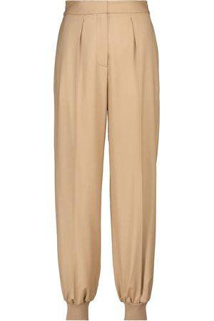 Stella McCartney Mujer Pantalones de talle alto - Pantalones de lana de tiro alto