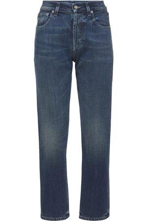 Saint Laurent | Mujer Jeans Rectos De De Algodón Suave 25