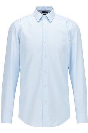 HUGO BOSS Camisa slim fit en algodón Oxford con acabado antibacteriano
