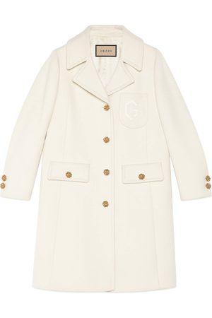 Gucci Mujer Abrigos largos - Abrigo de lana con bordado de Doble G