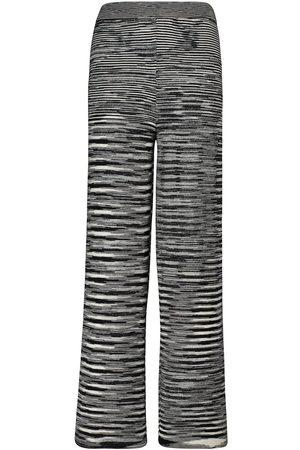 Missoni Pantalones rectos de punto mélange