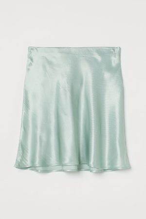 H&M Falda corta de satén