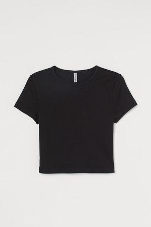 H & M Camiseta cropped de punto