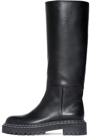 Proenza Schouler   Mujer 30mm Lug Leather Tall Boots 39.5