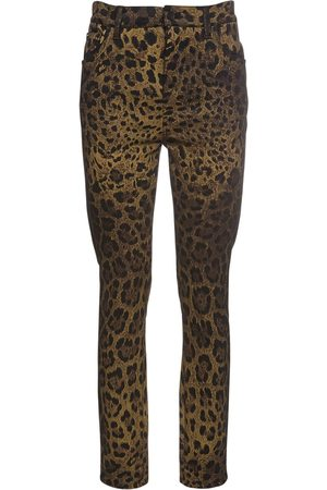 Dolce & Gabbana   Mujer Jeans De Denim Con Estampado Animal 36