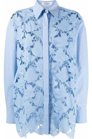VALENTINO Camisa de encaje con manga larga
