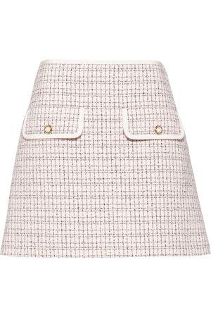Miu Miu Mujer Minifaldas - Falda corta de cuadros acampanada
