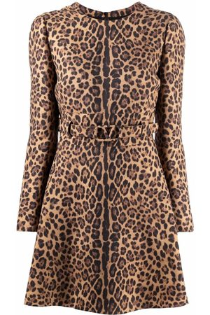 VALENTINO Vestido corto con motivo de leopardo