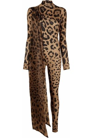 Atu Body Couture Mujer Monos largos - Mono largo con estampado de leopardo
