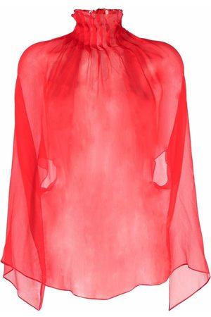 Atu Body Couture Mujer Túnicas - Túnica plisada translúcida de seda