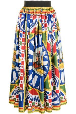Dolce & Gabbana Falda con estampado geométrico
