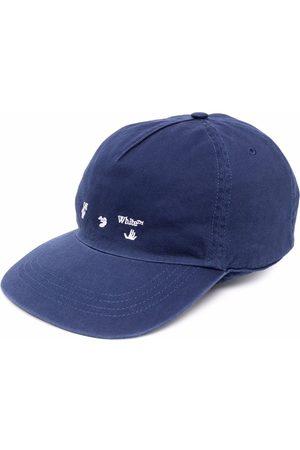 OFF-WHITE OW LOGO BASEBALL CAP DEEP BLUE WHITE