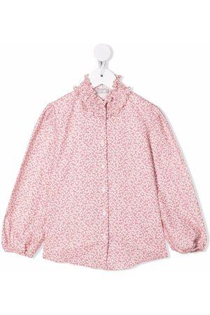 Il gufo Camisa de popelina con estampado floral