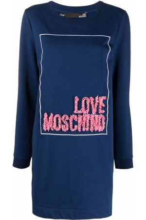 Love Moschino Vestido tipo sudadera con logo