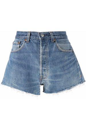 RE/DONE Pantalones vaqueros cortos con borde sin rematar