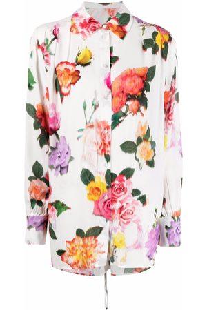MSGM Camisa con estampado floral