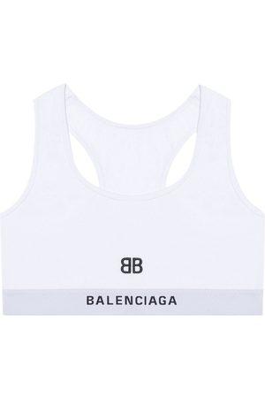 Balenciaga Sujetador deportivo con motivo bordado