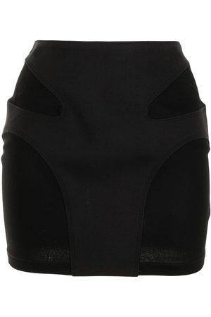 DION LEE Minifalda con costuras