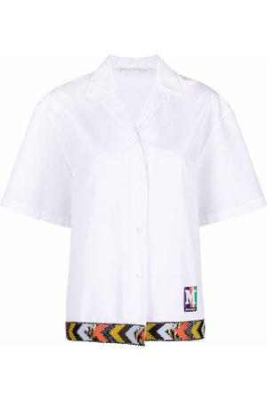Palm Angels Camisa bowling de manga corta