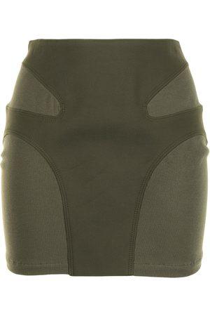 DION LEE Mujer De tubo - Falda corta con detalle de costuras