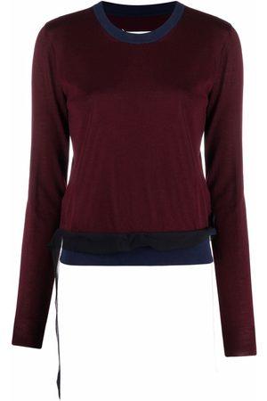 Maison Margiela Mujer Jerséis y suéteres - Jersey de punto de dos tonos