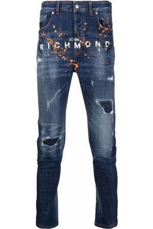 John Richmond Hombre Slim - Vaqueros slim con logo estampado