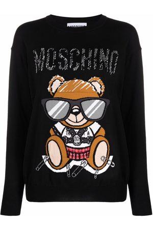 Moschino Sudadera con logo Teddy Bear en intarsia