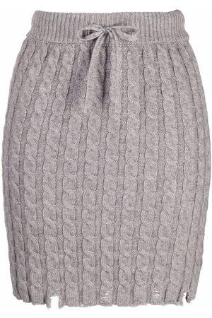 Pinko Minifalda de punto de ochos