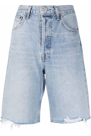 AGOLDE Mujer Vaqueros - Pantalones vaqueros cortos con efecto envejecido