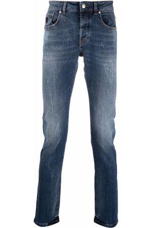 John Richmond Logo-print slim-cut jeans