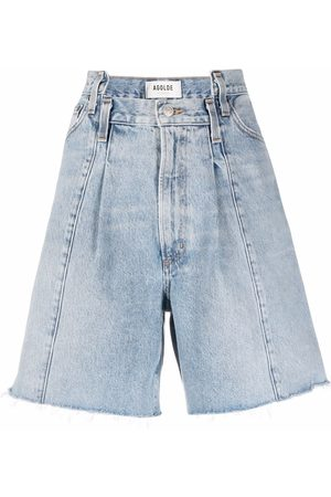 AGOLDE Pantalones vaqueros cortos con detalle de parches