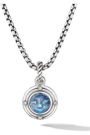 David Yurman Mujer Collares - Sterling silver moonstone and diamond amulet