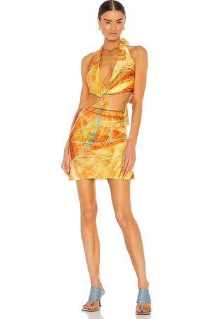 Farai London Mujer Mini y ajustados - Minivestido gaia en color amarillo talla L en - Yellow. Talla L (también en S, XS, M).