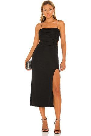 Cinq A Sept Vestido midi mariah en color talla 00 en - Black. Talla 00 (también en 4, 6, 8).