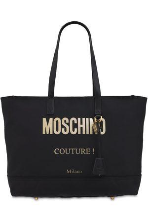Moschino   Mujer Bolso Tote De Nylon Con Logo Unique