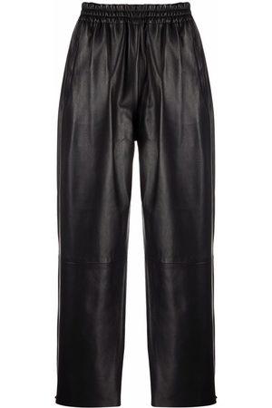 Pinko Pantalones rectos de cuero