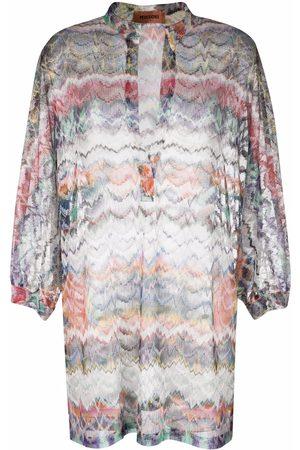Missoni Mujer De playa - Zigzag-pattern beach dress