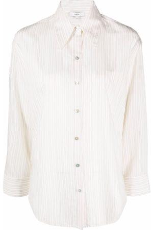 Vince Antique-stripe buttoned shirt