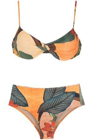 Lygia & Nanny Mujer Bikinis - Bikini Veronica con estampado de hojas