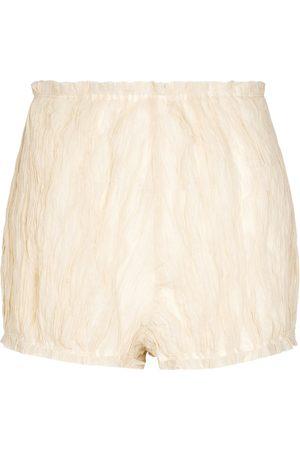 Khaite Shorts Hilary mezcla de algodón y seda
