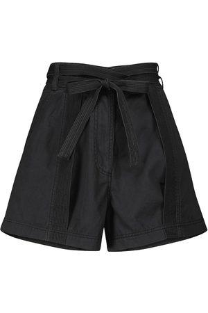 ULLA JOHNSON Shorts Gavin de algodón con cinturón