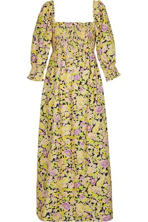 RIXO London Vestido largo con estampado floral