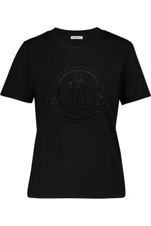 Moncler Mujer Manga corta - Camiseta de algodón con logo