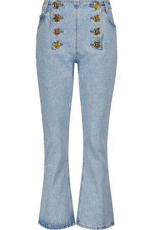 Balmain Jeans flared de tiro bajo con adornos