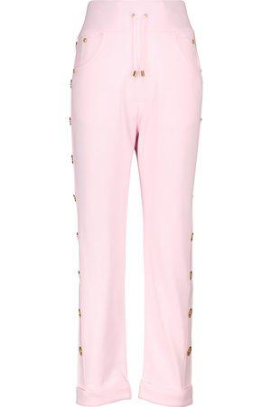 Balmain Mujer Chándals - Pantalones de chándal de algodón