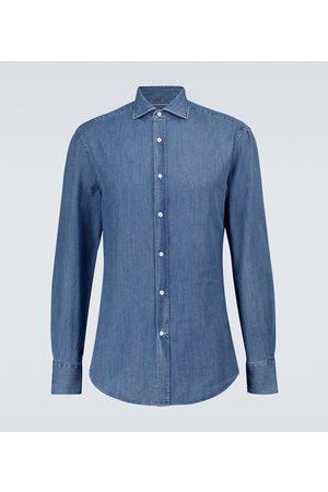 Brunello Cucinelli Hombre Manga larga - Camisa vaquera de manga larga